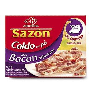 CALDO EM PÓ SAZON 37,5G BACON CONTÉM 5 SACHÊS DE 7,5G