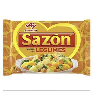 TEMPERO SAZON 60G P/ LEGUMES CONTÉM 12 SACHÊS DE 5G
