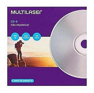 CD-R ENVELOPE 700MB 52X VELOCIDADE MULTILASER