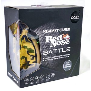 HEADSET GAMER BATTLE RED NOSE DAZ 1PC
