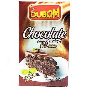 CHOCOLATE EM PÓ SOLÚVEL 50% CACAU DUBOM 200G