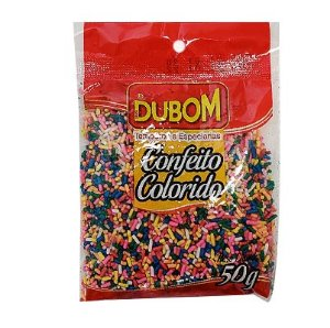 CONFEITO COLORIDO DUBOM 50G