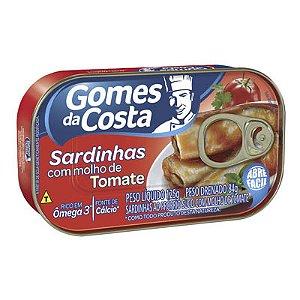 SARDINHA C/MOLHO DE TOMATE 125G GOMES DA COSTA LT