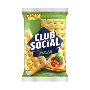 BISCOITO SALGADO CLUB SOCIAL PIZZA 141G PACOTE
