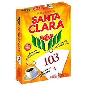 FILTRO DE PAPEL 103 SANTA CLARA 1 CAIXA 30UN