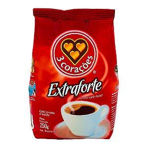CAFÉ EXTRAFORTE 3 CORAÇÕES 250G ALMOFADA