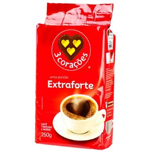 CAFÉ EXTRAFORTE VÁCUO 3 CORAÇÕES 250G