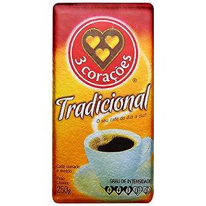 CAFÉ TRADICIONAL  VCUO 3 CORAÇÕES 250G