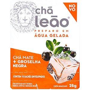 CHÁ MATE LEÃO GROSELHA NEGRA 25G PREPARO EM ÁGUA GELADA