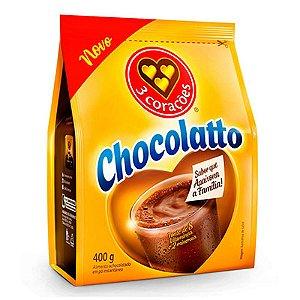 ACHOCOLATADO PÓ 400G 3 CORAÇÕES CHOCOLATTO SACHÊ