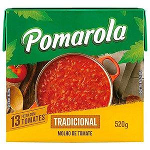 MOLHO DE TOMATE TRADICIONAL 520G POMAROLA