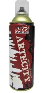 TINTA SPRAY ARTÍSTICA 360ML RADEX BRONZE METÁLICO MULTIUSO