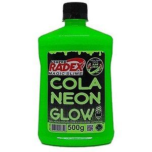 COLA GLOW SLIME NEON 500G RADEX VERDE