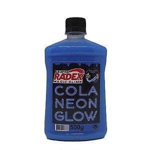 COLA GLOW SLIME NEON 500G RADEX AZUL