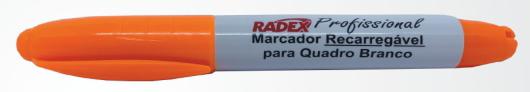 MARCADOR RECARREGAVEL P/QUADRO BRANCO LARANJA RADEX