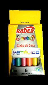 GIZ DE CERA C/6 CORES METÁLICO RADEX