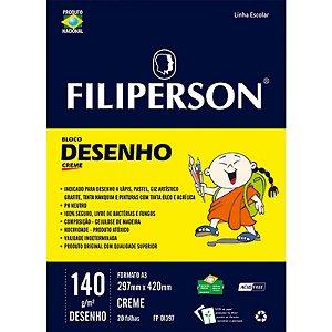 BLOCO DESENHO A3 140G C/20FOLHAS BRANCO FILIPERSON