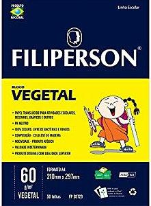 BLOCO VEGETAL C/50 FOLHAS 60G FILIPERSON