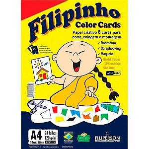PAPEL CRIATIVO COLOR 8 CORES 120G 24 FOLHAS FILIPINHO