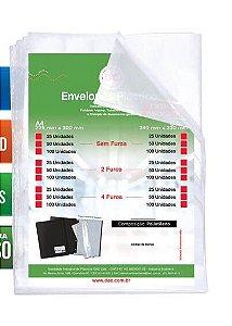 ENVELOPE PLASTICO DAC C/4 FUROS EXTRA GROSSO