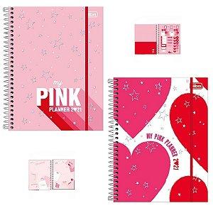 PLANNER ESPIRAL 2021 LOVE PINK TILIBRA - UNIDADE