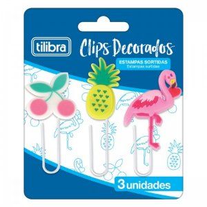 CLIPS DECORADOS 50MM 3 UNIDADES TILIBRA