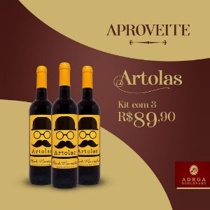 Artolas Tinto  Kit c/ 3 Grarrafas  750ml