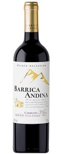 Barrica Andina  Estate Selection  Carmèrére   750ml