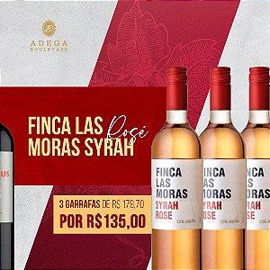 Promoção combo 3 gfs de Finca Las Moras Rosé 750ml