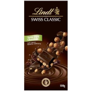 Chocolate Lindt Swiss Classic Dark Hazelnuts  100 g
