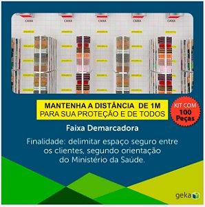 FITA DEMARCADORA DE DISTANCIAMENTO  - KIT COM 100 PEÇAS