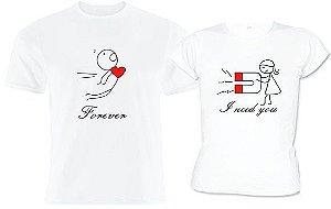 Kit 2 Camisas dia dos Namorados Love
