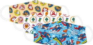 Kit com 3 Mascaras Infantis, Patrulha Canina/Pocoyo/superman
