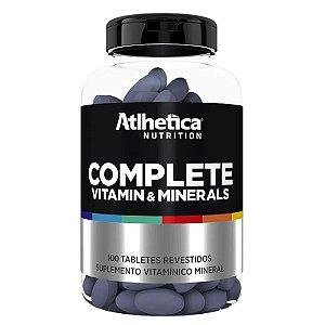 COMPLETE Vitamin e Minerals, Multivitaminico, Atlhetica Nutrition, 100 caps.
