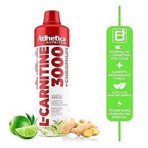 L-CARNITINE 3000 + Chromium, L-Carnitina com Cromo, Atlhetica Nutrition, 480 ml