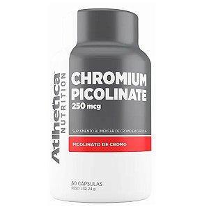 CHROMIUM PICOLINATE (60caps) 250 mcg - Atlhetica Nutrition Picolinato de Cromo Inibidor de apetite