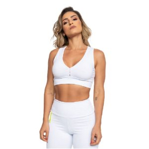 Top Fitness Poliamida Tag - Branco