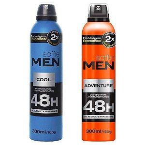 DESODORANTE MEN 48H, Soffie, 300ml, Masculino