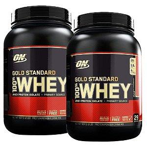 Kit 2x GOLD STANDARD 100% WHEY, On, Optimum Nutrition, 907g
