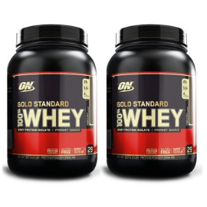 Kit 2x GOLD STANDARD 100% WHEY, On, Optimum Nutrition, 907g combo