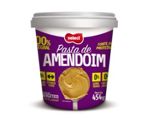 Pasta de Amendoim Integral, 454g, SELECT