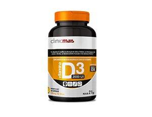 Vitamina D 3, 2000 UI, ClinicMais, 30 Caps.