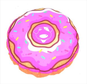 Almofada Donuts Rosa