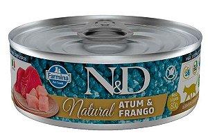 Lata N&d Gato Ad Natural Atum e Frango 80g