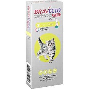 Antipulgas e Vermífugo Bravecto Transdermal Plus Gato 1,2 A 2,8kg 112,5mg