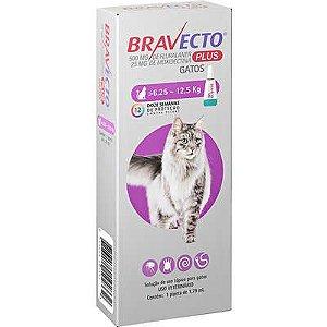 Antipulgas e Vermífugo Bravecto Transdermal Plus Gato 6,25 A 12,5kg 500mg