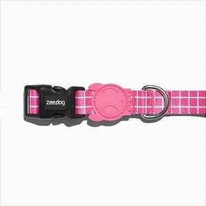 Coleira Zee Dog Pink Wave P