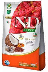 Ração N&D Quinoa Gato Adulto Skin & Coat Peixa 1,5kg