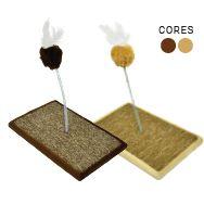 Arranhador São Pet Brinquedo Carpete Marrom