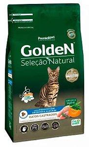 Ração Golden Seleção Natural Gato Adulto Castrado Frango e Abóbora 10,1kg